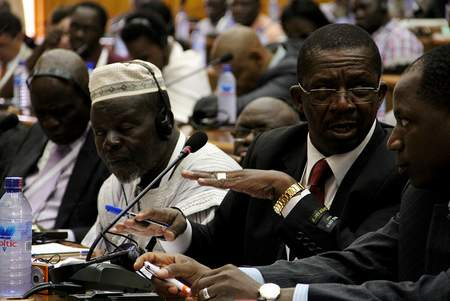 Delegates break into discussion during the Africa Agriculture Science Week in Accra, Ghana.