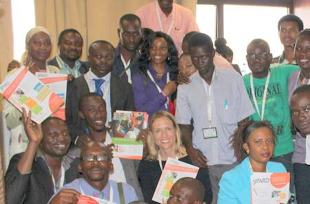Participants in a Young Professionals in Agricultural Research for Development (YPARD) side event. The spirit of AASW6 was an inspiring one of openness and discussion.