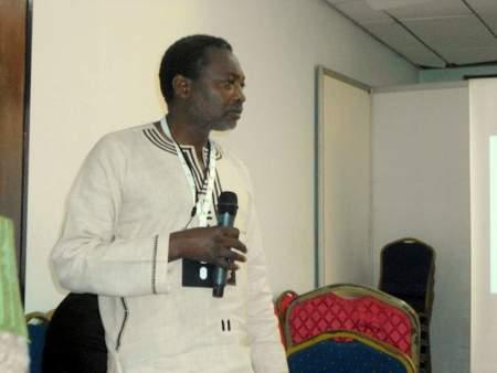 Professor Mandivamba Rukuni addresses delegates at the AASW6 conference on Monday.