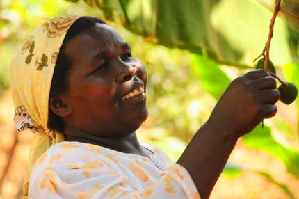 female farmer in East Africa