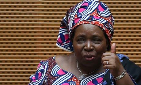 Walking the walk … AU chairwoman Nkosazana Dlamini-Zuma insists the ministerial declaration on hunger is not just words.
